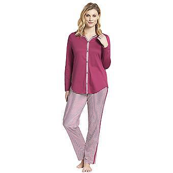 Rosch 1193517-16415 kvinnors smart casual Blush rosa randig mix bomull pyjamas set