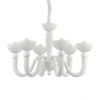 Ideale Lux Bon Bon 6 lamp hanger licht wit