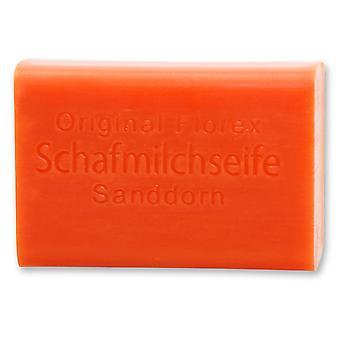 Florex Schafmilchseife Sanddorn mit wertvollen duftenden Sanddornölen reinigt die Haut pflegt seidenweich 100 g