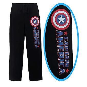 Captain America Comic logo män ' s pyjamas byxor