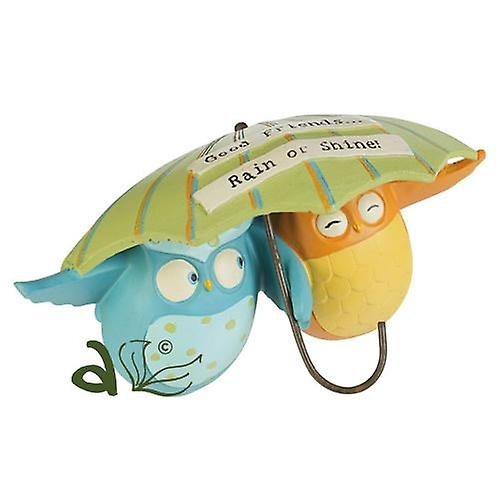 Good Friends Rain or Shine Owls with Brolly