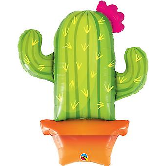 Qualatex 39 Inch Potted Cactus Supershape Foil Balloon