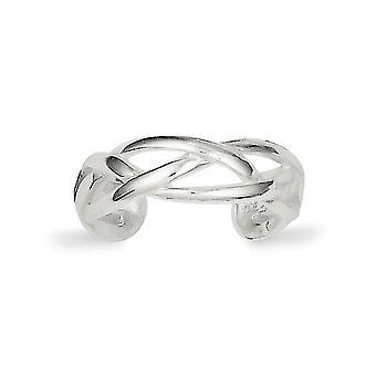 925 sterling sølv solid polert vevd tå ring smykker gaver til kvinner