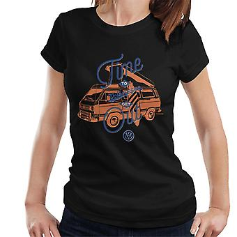 Volkswagen Time To Get Out T3 Camper Women's T-Shirt
