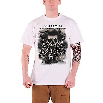 Bullet For My Valentine T Shirt Venom Snakes & Skull new Official Mens White