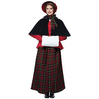 Holiday Caroler Woman Christmas Victorian Olden Day Nativity Womens Costume