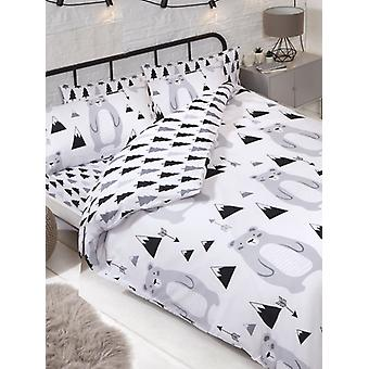 Scandi Bear Double Duvet Cover and Pillowcase Set