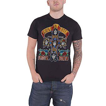Guns N Roses T Shirt NJ Summer Jam 1988 Vintage Logo officiel Mens nouveau noir