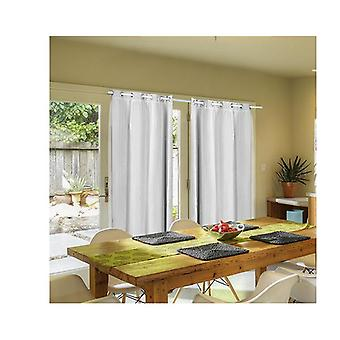 2 Pcs 3 Layers 140X213Cm Blockout Curtains With Soft Gauze