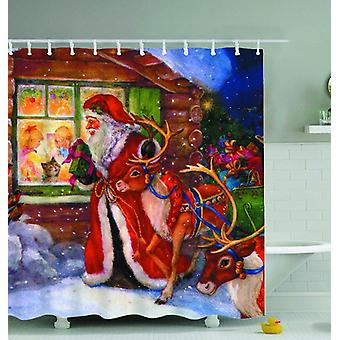 Christmas Vintage Painting Shower Curtain
