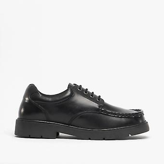 Roamers Jameson Boys Leather Smart Lace Up Shoes Black