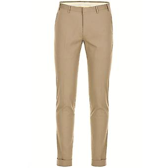 CC Kollektion Corneliani Beige Pleat Baumwollhose