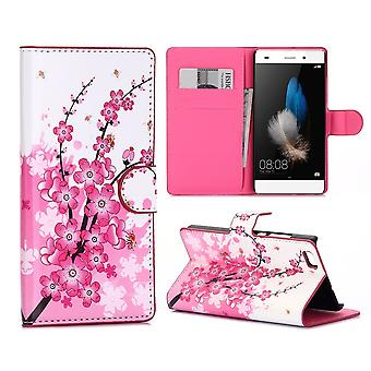 Case For Huawei P8 Lite (2015) Japanese Flowers Pattern