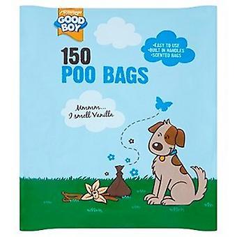 Sacos plásticos do poo do cão do bom menino (30 blocos)