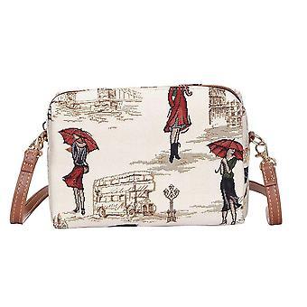 Miss london shoulder hip bag by signare tapestry / hpbg-msln