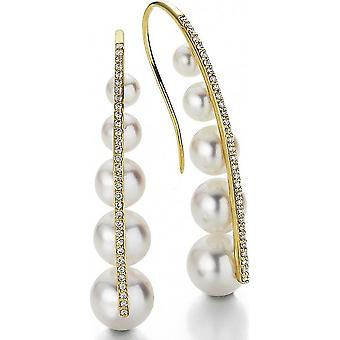 Yana Nesper - Earhooks - Women ' Akoya Beads AP109 with 10 Beads