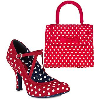 Ruby Shoo Women's Jessica Shoe Pumps and Matching Santiago Bag