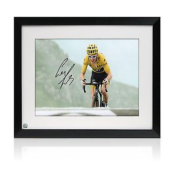 Geraint Thomas Signed Tour De France Photo: Stage 17. Framed