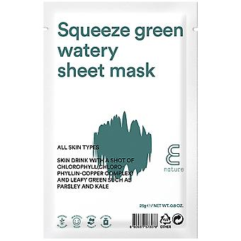 E-Nature Squeeze Gren Watery Sheet Mask