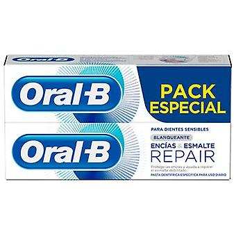 Oral B Whitening Toothpaste Gums and Enamel Repair 2x75ml