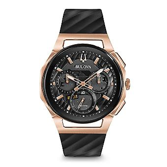 Bulova 98a185 mænd ' s curv Chronograph Watch