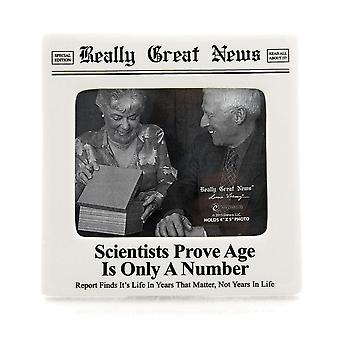 Really Great News Scientists Prove Age Is Only A Number 4 X 5 Photo Frame