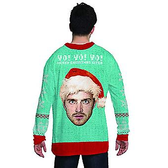 Faux Real Men's 3D Photo-Realistic Licensed Ugly Christmas Sweater Long Sleev...
