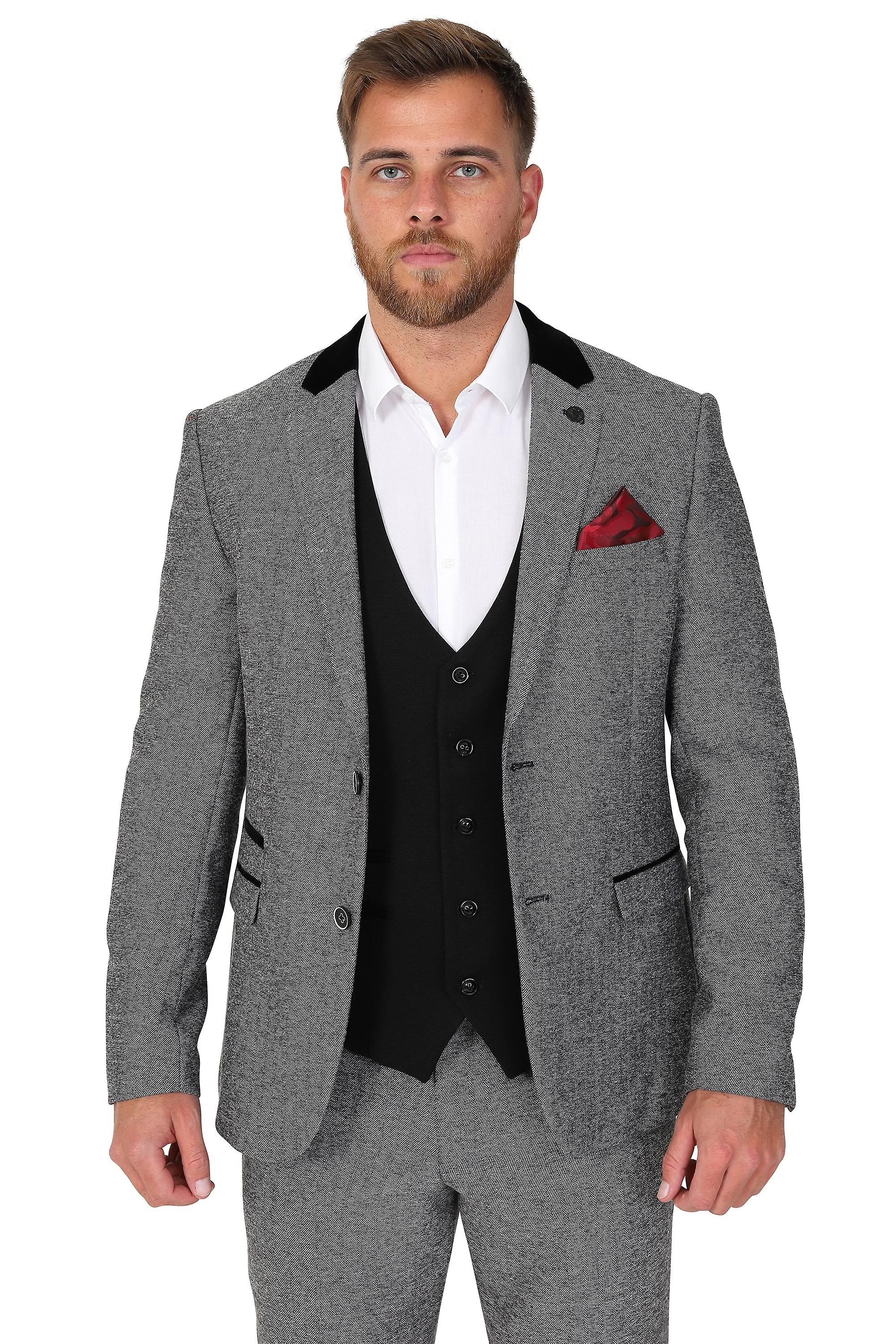Marc Darcy Kelly Black Single Breasted Plain Waistcoat