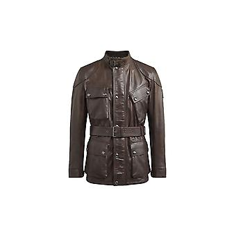 Belstaff Panther Leather Jacket Black Brown
