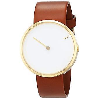 Jacob Jensen Unisex Quartz analogue watch with leather band Curve Series 254