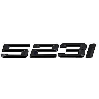 Gloss Black BMW 523i Car Badge Emblem Model Numbers Letters For 5 Series E93 E60 E61 F10 F11 F07 F18 G30 G31 G38