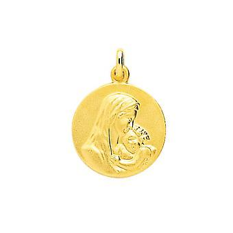 M daille Gold 375/1000 gelb natives Kind (9K)