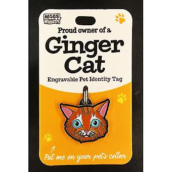 Wags & Whiskers Pet Cat Identity Tag - Ingwer Katze
