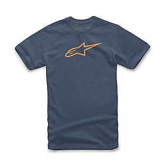 Alpinestars Men's T-Shirt ~ Ageless  navy orange