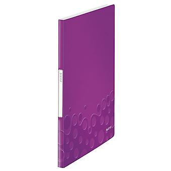Leitz WOW Display Book 20 Pockets Purple