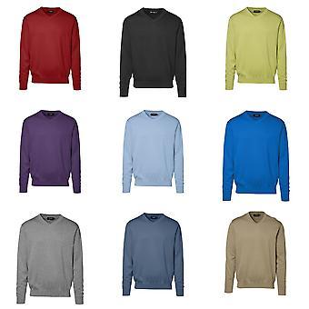 ID-Mens regelmäßig Fitting v-Neck Pullover gestrickt