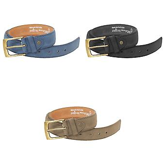 Forest Mens Thick Real Leather Belt