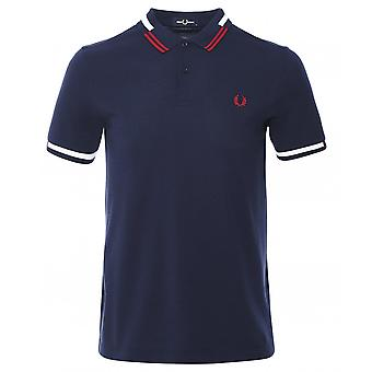 Fred Perry Abstract Tipped Polo Shirt M8551 266