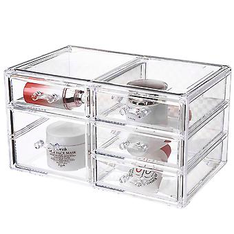 OnDisplay Cosmetic Makeup and Jewelry Storage Case Display - 5 Drawer Design - Perfect for Vanity, Bathroom Counter, or Dresser