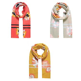 Jewelcity Dames/Dames Daisy Power Print Sjaal
