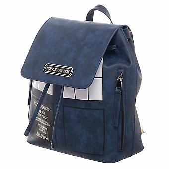 Dr Who Tardis Backpack With Tan Straps