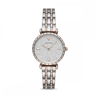 Armani Watches Ar11293 Two Tone Silver & Rose Gold Stainless Steel Women's Watch