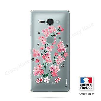 Hull For Sony Xperia Xz2 Compact Soft Pattern Flowers De Sakura