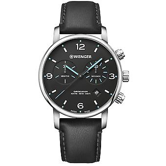 Wenger Metropolitan Chronograph Black Dial Black Stainless Steel Bracelet Men's Watch 01.1743.120 RRP £219