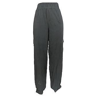 Anybody Women's Pants Tall Cozy Knit Cargo Jogger Black A310169