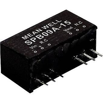 Mean Well SPB09B-12 DC/DC-konverter (modul) 750 mA 9 W Nr. af udgange: 1 x