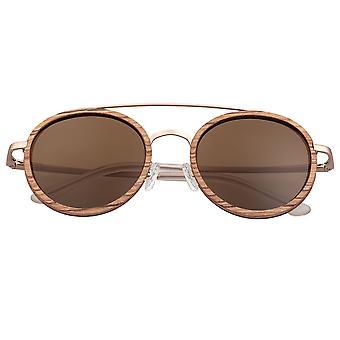 Earth Wood Binz Polarized Sunglasses - Babinga/Brown