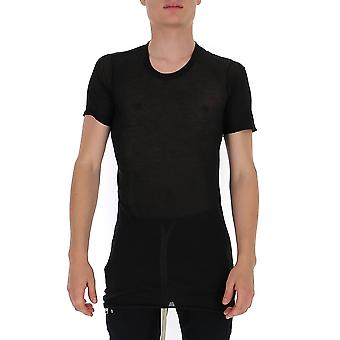 Rick Owens Ru20f3251uc09 Men's Black Cotton T-shirt