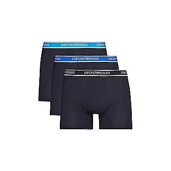 Emporio Armani Stretch Cotton 3pack Navy Boxers