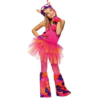 Glitter Tutu Child Pink Orange